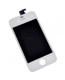 Apple iPhone 4S Digitizer and LCD Screen Assembly with Frame Replacement - White, Premium Ori