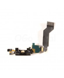 Apple iPhone 4S Charging Dock Connector Flex Replacement, High Quality, Black