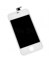 Apple iPhone 4 Digitizer and LCD Screen Assembly with Frame Replacement - White(Aftermarket LCD)