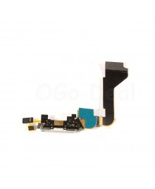Apple iPhone 4 Charging Dock Connector Flex Cable Replacement, Ori New, White