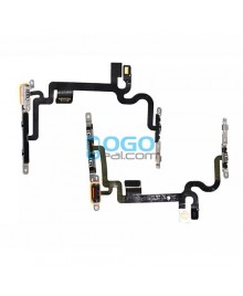For Apple iPhone 7 Power Button and Volume Button Flex Cable With Metal Bracket Replacement, Premium