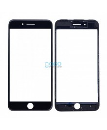 Front Outer Screen Glass Lens with Frame Replacement for iPhone 7 Plus - Black (Cold Glue)