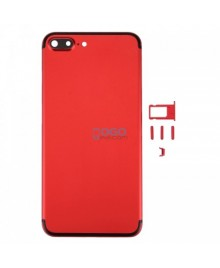 Battery Door/Back Cover Replacement for iPhone 7 Plus - Red With Black Line