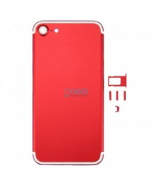 Battery Door/Back Cover Replacement for iPhone 7 - Red With White Line