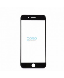 Front Outer Screen Glass Lens with Frame and OCA Replacement for iPhone 7 - Black (Cold Glue)