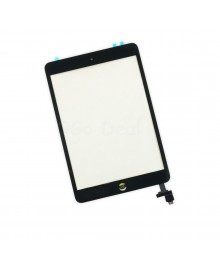 iPad Mini 1/2 Glass and Digitizer Assembly with IC chip and Home Button Assembly, High Quality - Black