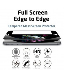 iPhone 6 6S Full Coverage 9H 3D Curved Tempered Glass Screen Protector Film Black With retail Packing Box