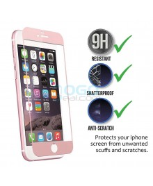 iPhone 6 6S Full Coverage 9H 3D Curved Tempered Glass Screen Protector Film Rose Gold With retail Packing Box