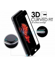 iPhone 6 Plus/6S Plus Full Coverage 9H 3D Curved Tempered Glass Screen Protector Film Black With retail Packing Box