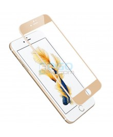 iPhone 6 Plus/6S Plus Full Coverage 9H 3D Curved Tempered Glass Screen Protector Film Gold With retail Packing Box