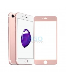 iPhone 6 Plus/6S Plus Full Coverage 9H 3D Curved Tempered Glass Screen Protector Film Rose Gold With retail Packing Box
