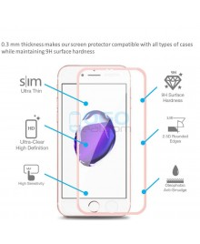 iPhone 6 6S Titanium Alloy Full Cover Tempered Glass Screen Protector Film Rose Gold With retail Packing Box