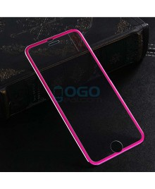 iPhone 7 Plus Titanium Alloy Full Cover Tempered Glass Screen Protector Film Fuchsia With retail Packing Box