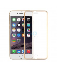 iPhone 7 Plus Titanium Alloy Full Cover Tempered Glass Screen Protector Film Gold With retail Packing Box