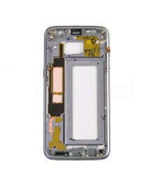 LCD front Support Frame for Samsung Galaxy S7 Edge (All Verison) - Black