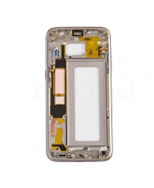 LCD front Support Frame for Samsung Galaxy S7 Edge (G935A / G935T) - Gold