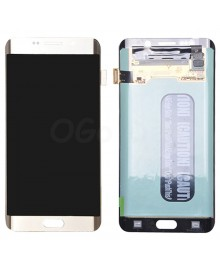 LCD and Digitizer Assembly Replacement for Samsung Galaxy S6 Edge Plus  - Gold