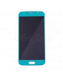 LCD Screen and Digitizer Assembly Replacement for Samsung Galaxy S6 - Lake Blue