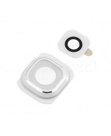 Replacement for Samsung Galaxy S6 Rear Camera Holder with Lens - White