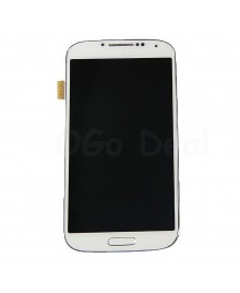 LCD Screen and Digitizer Assembly with Frame Replacement for Samsung Galaxy S4 IV GT-i9500 - White
