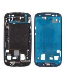 For Samsung Galaxy S3 III T999/I747 Faceplate Front Bezel Middle Plate Frame - Blue