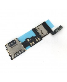Sim Card Tray Holder and Memory SD Card Reader Socket Flex Cable Replacement for Samsung Galaxy Note 4