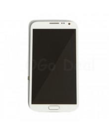 LCD Screen and Digitizer Assembly Replacement With Frame for Samsung Galaxy Note 2 I605 / L900 / R950 - White
