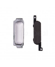 Home Button with Bracket Replacement for Samsung Galaxy Note 2 - Black