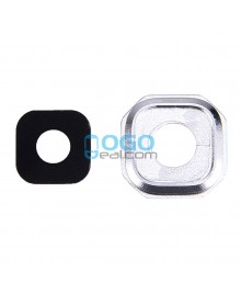 Replacement for Samsung Galaxy A7 (2016) A7100 Rear Camera Lens Cover with Holder - Silver