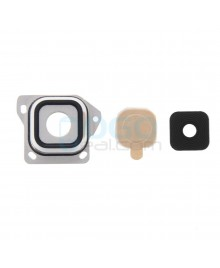Camera Lens with Bezel Replacement for Samsung Galaxy A3 Black