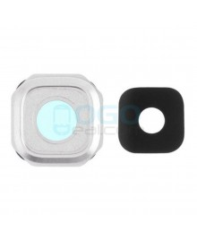 Camera Lens with Bezel Replacement for Samsung Galaxy A9 2016 White