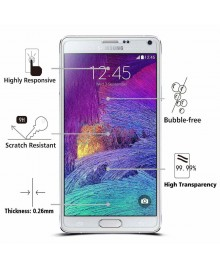 10pcs Samsung Galaxy Note 4 Tempered Glass Screen Protector Film Guard 9H Without retail Packing Box
