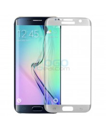 Samsung Galaxy S6 Edge Full Coverage Tempered Glass Screen Protector Film Guard 9H Silver With retail Packing Box