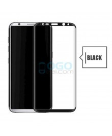 Samsung Galaxy S8 Full Coverage Tempered Glass Screen Protector Film Guard 9H Black With retail Packing Box