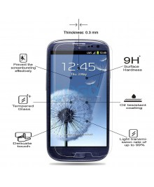 Samsung Galaxy S3 Tempered Glass Screen Protector Film Guard 9H With retail Packing Box