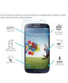 Samsung Galaxy S4 Tempered Glass Screen Protector Film Guard 9H With retail Packing Box