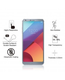 LG G6 Tempered Glass Screen Protector Film Guard 9H With retail Packing Box