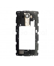 LG G4 Middle Frame with Loudspeaker Assembly - Gold Lens