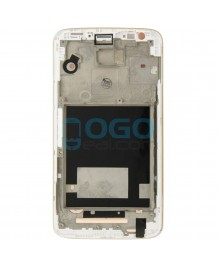 Front Housing Bezel Replacement for LG G2 D800 - White
