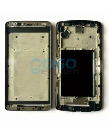 Front Housing Bezel Replacement for lg G3 S D722 - Black