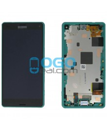 For Sony Xperia Z3 Compact/Z3 Mini LCD & Touch Screen Assembly With Frame Replacement- Black/Green