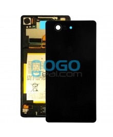 Battery Door/Back Cover Replacement for Sony Xperia Z3 Compact/Z3 Mini Black