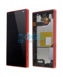 For Sony Xperia Z5 Compact/Mini LCD & Touch Screen Assembly With Frame Replacement- Black/Red