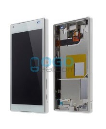 For Sony Xperia Z5 Compact/Mini LCD & Touch Screen Assembly With Frame Replacement- White
