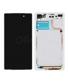 For Sony Xperia Z2 LCD & Touch Screen Assembly With Frame Replacement- Black/White