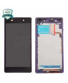 For Sony Xperia Z2 LCD & Touch Screen Assembly With Frame Replacement- Black/Purple