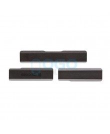 Micro SD & Sim Card & USB Anti Dust Plug Cap Cover for Sony Xperia Z1 L39H Black