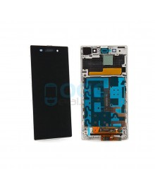 For Sony Xperia Z1 L39H LCD & Touch Screen Assembly With Frame Replacement- Black/White