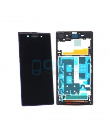 For Sony Xperia Z1 L39H LCD & Touch Screen Assembly With Frame Replacement- Black/Purple