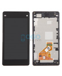 For Sony Xperia Z1 Compact/Z1 Mini LCD & Touch Screen Assembly With Frame Replacement- Black